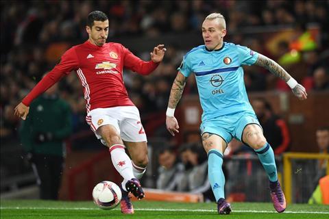 M.U vs Feyenoord Mkhitaryan