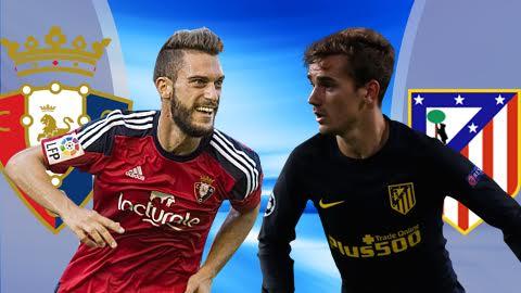 Nhan dinh Osasuna vs Atletico Madrid 22h15 ngay 2711 (La Liga 201617) hinh anh