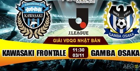 Nhan dinh Kawasaki Frontale vs Gamba Osaka 11h30 ngay 0311 (VDQG Nhat 2016) hinh anh