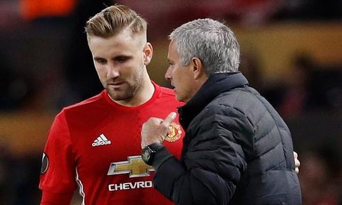 Mourinho yeu cau Luke Shaw va Smalling ra san du suc khoe khong dam bao.