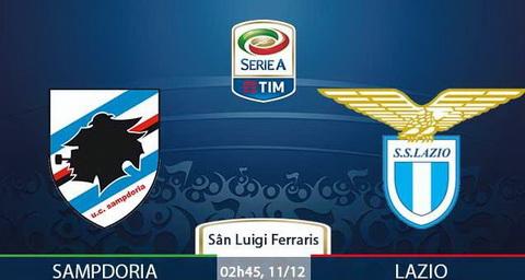 Nhan dinh Sampdoria vs Lazio 02h45 ngay 1112 (Serie A 201617) hinh anh
