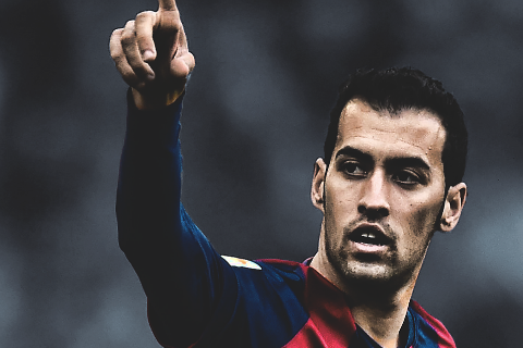 Tien ve Sergio Busquets Real dung mung voi hinh anh 2