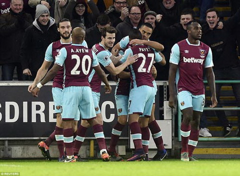 Tong hop Swansea 1-4 West Ham (Vong 18 NHA 201617) hinh anh