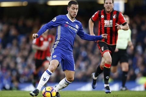 Eden Hazard la ong chu show dien hom nay cua Chelsea