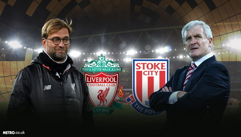 Cuoc doi dau Liverpool vs Stoke se khong co qua cho thay tro Mark Hughes.