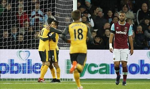 Arsenal vui dap West Ham Nga mu truoc Super Sanchez hinh anh 2
