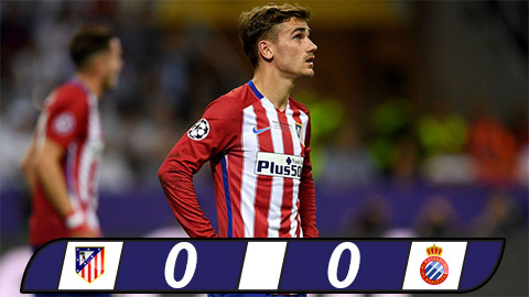 Atletico Madrid 0-0 Espanyol Hoa that vong, lo thoi co hinh anh