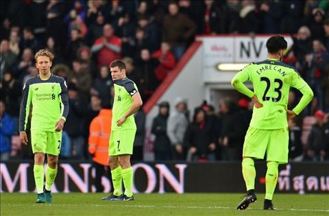 Liverpool thua Bournemouth 3-4