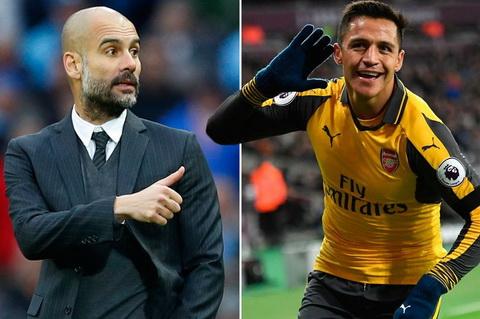 Guardiola goi dien rieng thuyet phuc Alexis Sanchez den Man City.
