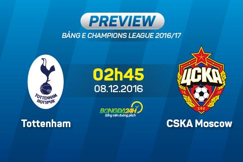 Tottenham vs CSKA Moscow (2h45 ngay 812) Cho tran cau man nhan hinh anh
