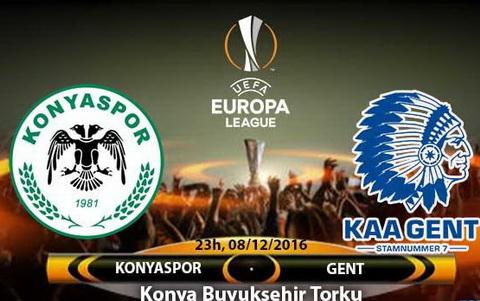 Nhan dinh Konyaspor vs Gent 23h00 ngay 812 (Europa League 201617) hinh anh