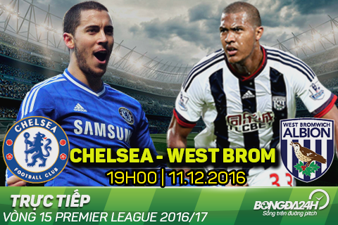 TRUC TIEP Chelsea 1-0 West Brom (H2): Diego Costa khai thong be tac