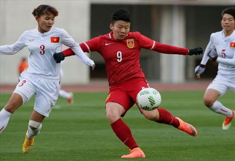 Video clip ban thang Nu Viet Nam 0-2 Nu Trung Quoc (Vong loai Olympic 2016) hinh anh