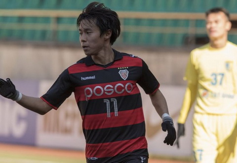 Ha Noi T&T thua trang Pohang Steelers o vong play-off AFC Champions League