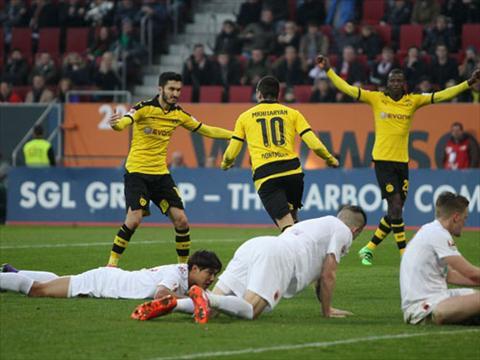 Video clip ban thang Augsburg 1-3 Dortmund (Vong 27 Bundesliga 20152016) hinh anh