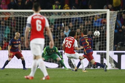 Elneny ghi ban thang duy nhat cho Arsenal vao luoi Barca