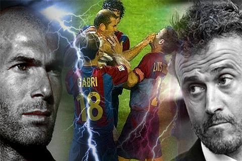 Zidane va Enrique tung suyt hoan doi vi tri cho nhau