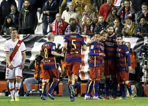 Video clip ban thang Rayo Vallecano 1-5 Barca (Vong 27 La Liga 20152016) hinh anh
