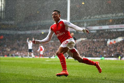 Sanchez Tottenham 2-2 Arsenal