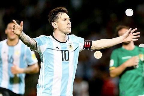 Messi vua ghi ban thang thu 50 cho DT Argentina