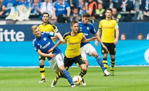 Video clip ban thang Schalke 04 2-2 Dortmund (Vong 29 Bundesliga 201516) hinh anh