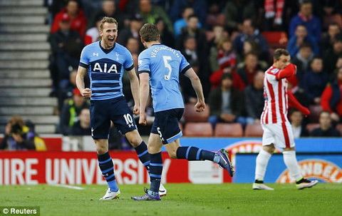 Video clip ban thang Stoke 0-4 Tottenham (Vong 34 Premier League 20152016) hinh anh