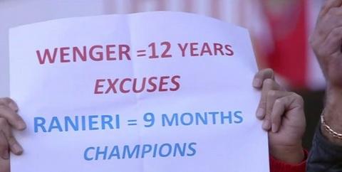 Mot so CDV tham chi con so sanh viec Wenger mat den 12 nam khong vo dich Premier League, con Ranieri chi can 9 thang de lam duoc dieu do voi Leicester.