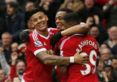 Martial choi hay, nhung khong du giup Man Utd thang tran. Anh: Reuters.