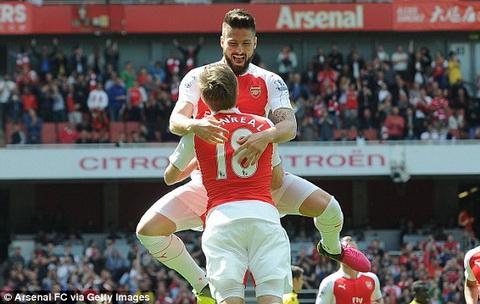 Arsenal 4-0 Aston Villa Giroud thang hoa, Phao thu doat ngoi a quan hinh anh