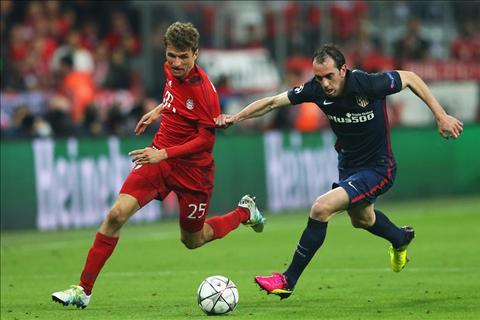 Muller Godin Bayern vs Atletico
