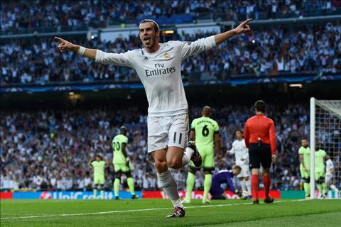 Bale ghi ban Real vs Man City