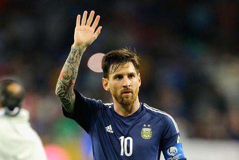 Messi xac lap ky luc ghi ban tai doi tuyen Argentina hinh anh