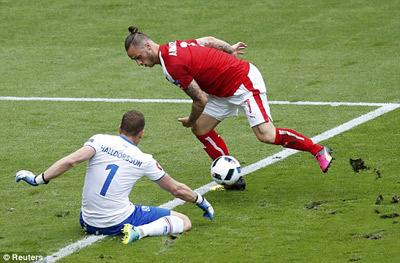 Video clip ban thang Iceland 2-1 Ao (Bang F VCK Euro 2016) hinh anh