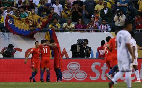 Chile (ao do) nhanh chong chung to uu the ap dao cua minh truoc Colombia bang man danh phu dau an tuong