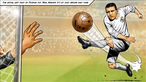 Puskas va vinh quang tai Real Madrid