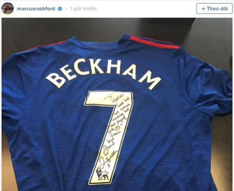 Sao tre MU nhan mon qua dac biet tu huyen thoai Beckham hinh anh