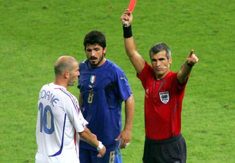 Red card of Zidane