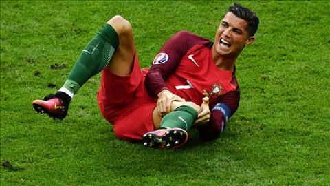 Ronaldo dinh chan thuong nang o chung ket Euro 2016