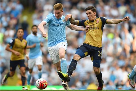 hau ve Bellerin Arsenal vs Man City