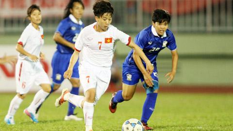 Nu Viet Nam 2-0 Nu Thai Lan (KT) Cac nu tuyen thu xoi tai ngon lanh nguoi Thai hinh anh