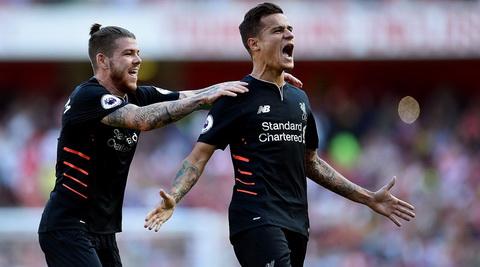 Coutinho (phai) la cau thu duy nhat ghi ban trong tran dau giua Liverpool va Arsenal khong co xuat than tu Southampton.
