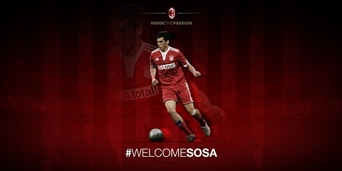 Tien ve Jose Sosa chinh thuc toi AC Milan hinh anh