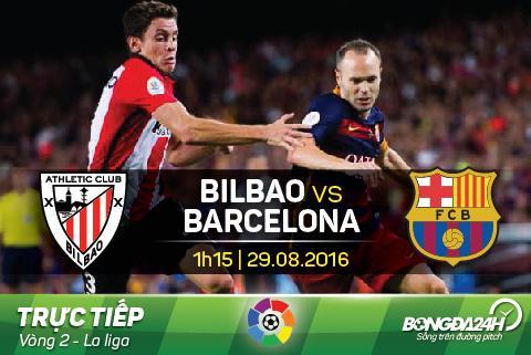 TRUC TIEP Bilbao vs Barca 01h15 ngay 29/8 (La Liga 2016/17)