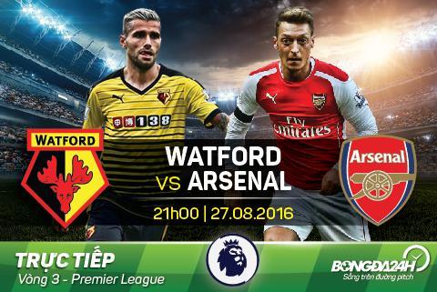 LINK XEM truc tiep Watford vs Arsenal 21h00 ngay 2708 hinh anh