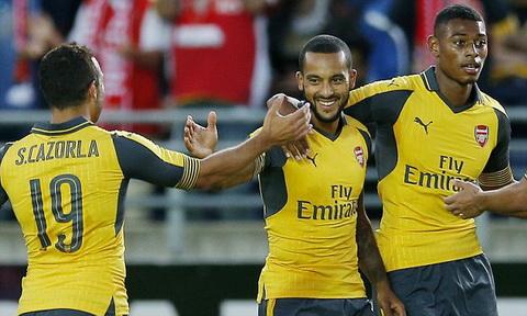 Video clip ban thang Viking 0-8 Arsenal (Giao huu he 2016) hinh anh
