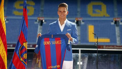 Tan binh Denis Suarez tiep quan ao so 6 huyen thoai cua Xavi o Barca hinh anh