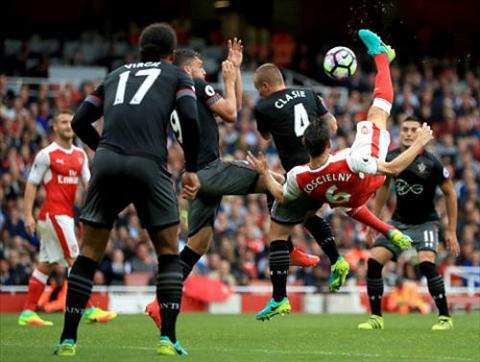 Tong hop Arsenal 2-1 Southampton (Vong 4 NHA 201617) hinh anh