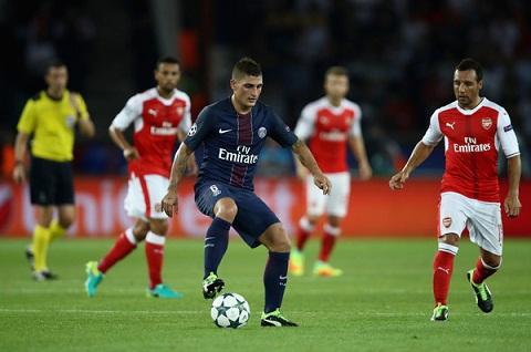 Marco Verratti choi cuc hay truoc Arsenal