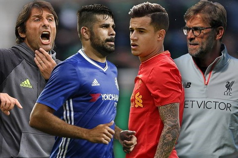 Chelses vs Liverpool Coutinho len tieng doa Conte hinh anh