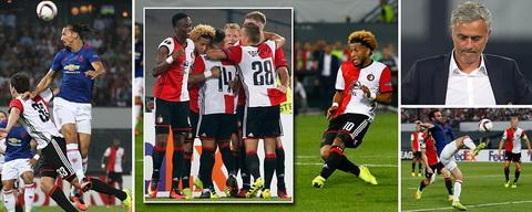 Tonny Vilhena da ghi ban thang duy nhat giup Feyenoord danh bai M.U.